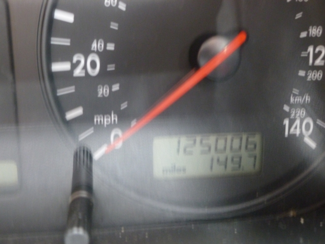 The official mileage. I should really go back and do that extra half mile.